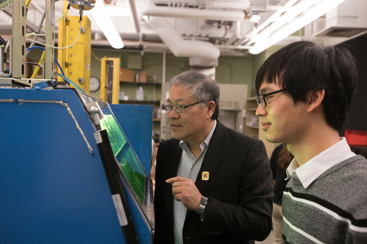 Dr. Liou conducts research on additive and subtractive manufacturing